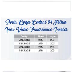 PORTA DE CORRER CENTRAL 4 FLS - 2,15X2,00 - AÇO PI